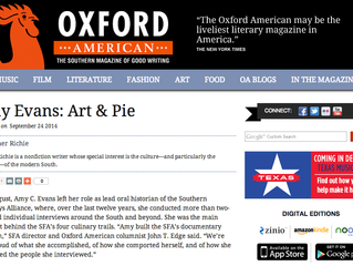 OXFORD AMERICAN FEATURES ART & PIE