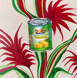 COVID QUILT BLOCK: CANNED PINEAPPLE (21/24)