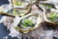 Oysters on the Half shell from Helga's Ctering Cocktail Reception Corporate Catering Menu
