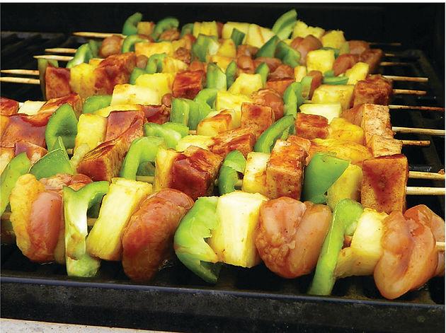 Hawaiian Mahi Mahi Kebabs from Helga's Catering Hawaiian Luau Menu