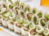 Assorted Wrap Sandwiches from Helga's Catering Wrap It Up Corporate Catering Menu