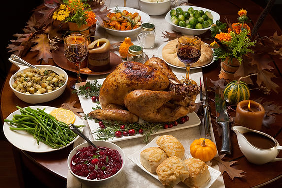 Thanksgiving Spread from Helga's Catering Holiday Budget III Menu