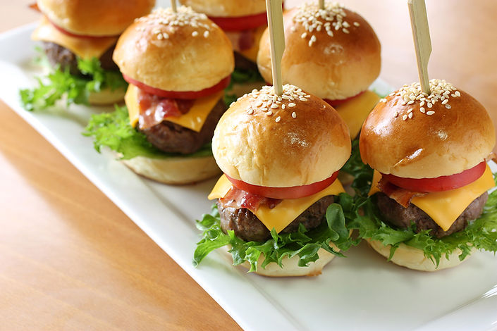 Hamburger sliders from Helga's Catering Children's Menu 2