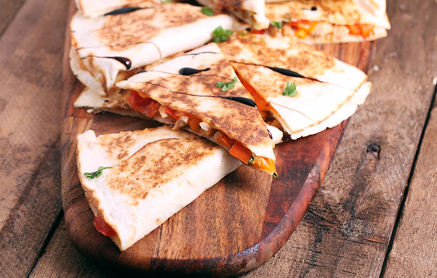 Chicken Quesadillas from Helga's Catering South-of-the-Border Fiesta Party Menu