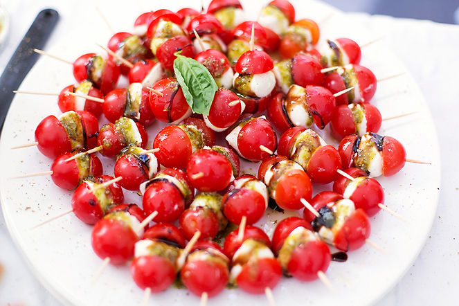 Mozzerella and Tomato Appetizers from Helga's Catering Bar and Bat Mitzvah Menu 1