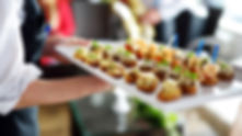 Passed Hors D'oeuvres from Helga's Catering Sit Down Dinner Corporate Catering Menu