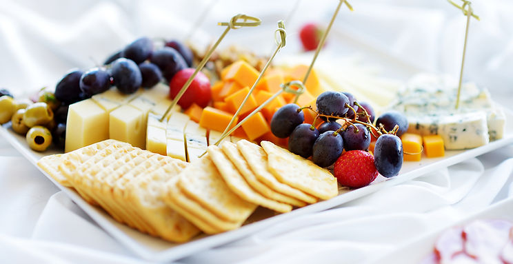 Cheese and Crackers from Helga's Cateing Holiday Soirée Menu