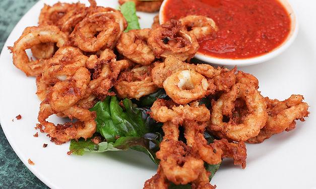 Calamari from Helga's Catering Italian Feast Party Menu