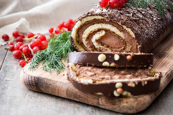 Buche de Noel Dessert from Helga's Catering Desserts Menu