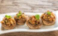 Stuffed Mushroom Caps from Helga's Catering Dinner Buffet Coporate Catering Menu
