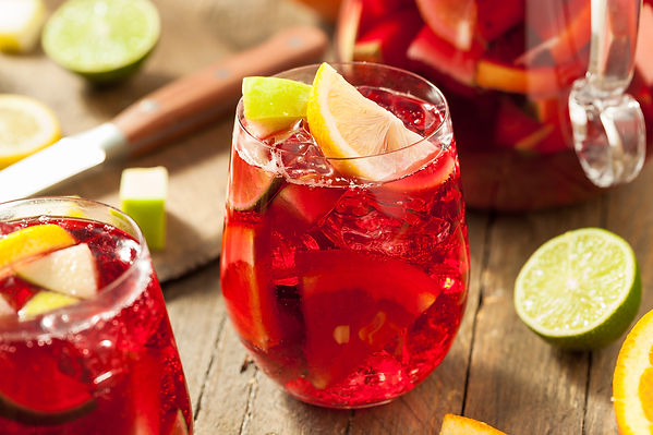 Sangria from Helga's Catering Feliz Navidad Holiday Menu