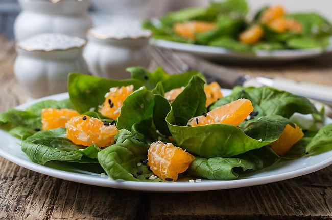 Spinach Salad wtih Mandarin Oranges from Helga's Catering Bar and Bat Mitzvah Menu V