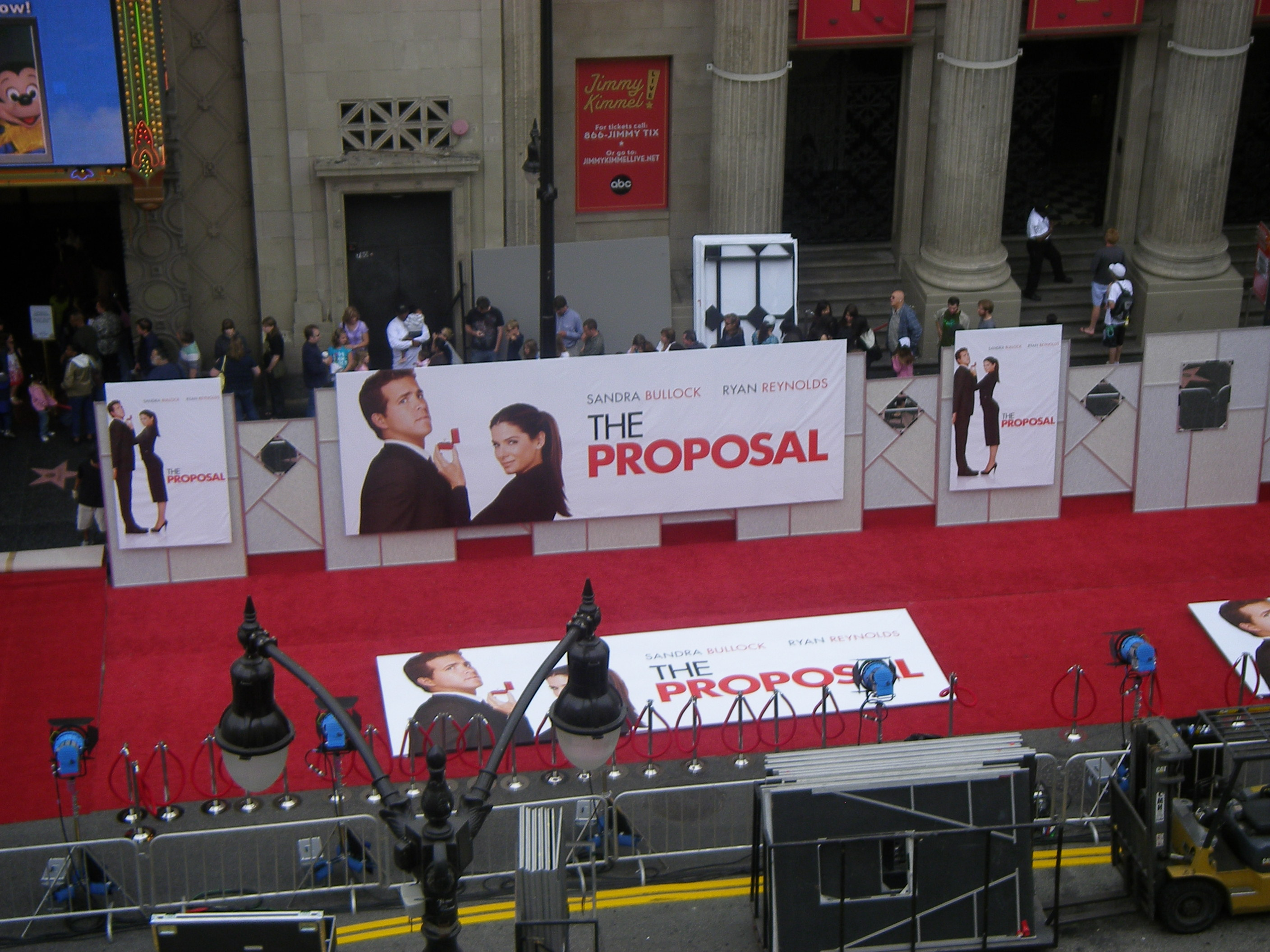 Red carpet set-up for The Proposal