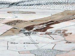 02-Praesentation-von-Schloss-und-Dorf-aus-der-Vogelschau-1722