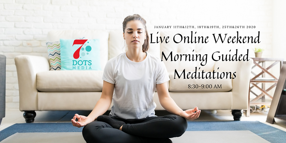Online live Guided Kundalini Meditations on Weekend Mornings in January