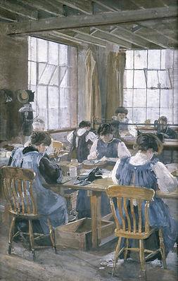 Sylvia Pankhurst painting