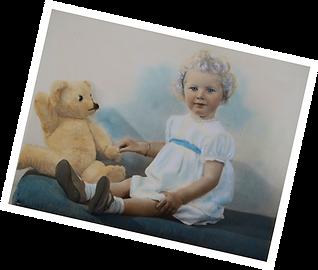 Jacqueline Mulhallen as a child