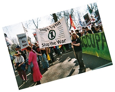 Jacqueline Mulhallen on the StoptheWar demonstration 18 March 2005