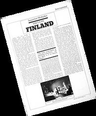 Article on Finnish Theatre by Jacqueline Mulhallen in Theatre Australia, April 1979