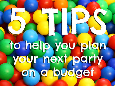5 Tips to Party Planning on a Budget