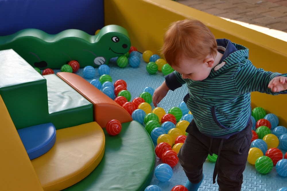 Tiny Tots Zones gives little ones plenty of room to roam and move