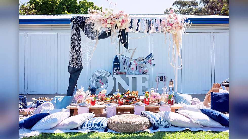 Boho Nautical Theme First Birthday Party
