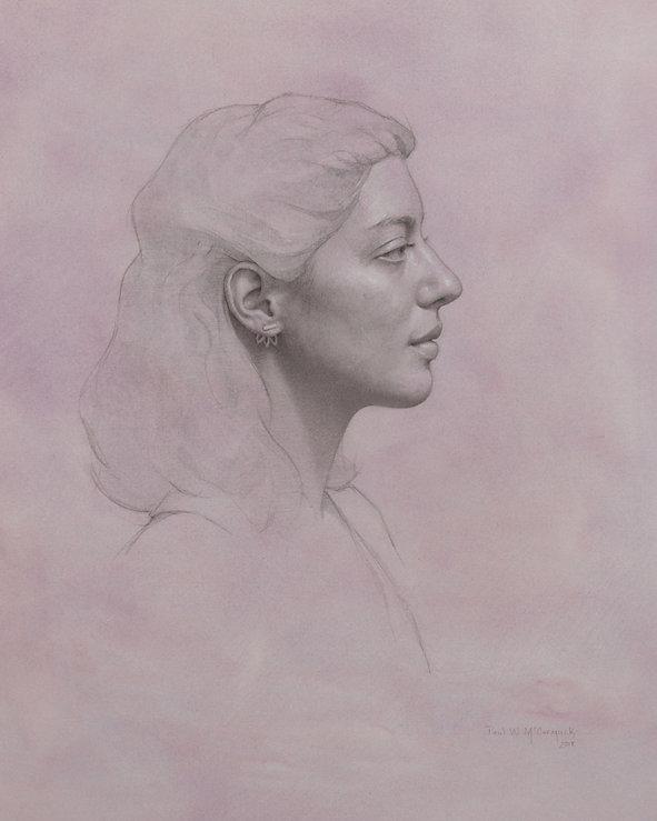 Lauren in Violet - Portrait of LAuren Holland by Paul McCormack