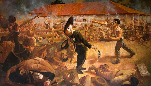 Gesta heroica de Andrés Castro en la Batalla de San Jacinto