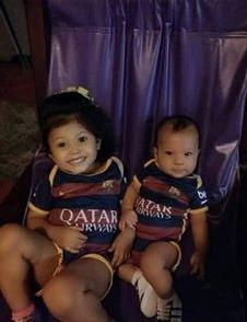 Matías y Darelis Velásquez de 5 meses y 2 años