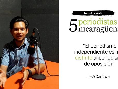 """José Cardoza: """"El periodismo independiente es muy distinto al periodismo de oposición"""""""