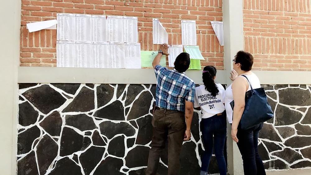 1er Informe de #Municipales2017: JRV vacías, cientos no aparecen en el Padrón Electoral y las figuras publicas votan