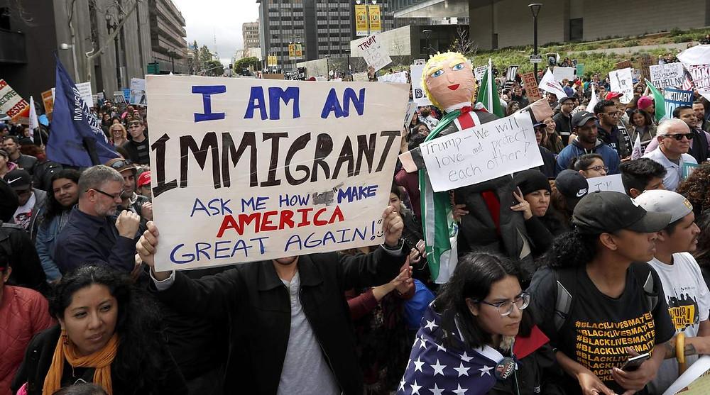 Las políticas migratorias impuestas por Trump han generado muchas manifestaciones en su contra, pero el mandatario no ha cambiado sus decisiones - Fotografía cortesía