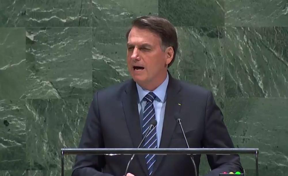 """Jair Bolsonaro, actual presidente de Brasil, dijo en la Asamble General de las Naciones Unidas que """"es una falacia decir que el Amazonas es parte del patrimonio mundial y es un error decir, como afirman los científicos, que nuestra selva tropical es el pulmón del mundo"""""""