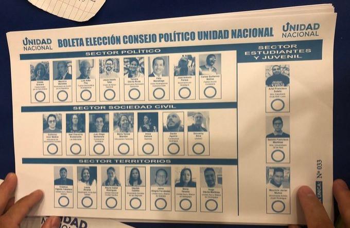 Boleta de Elección del Consejo Político de la UNAB - Fotografía tomada de Twitter