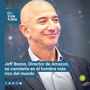 La persona más rica del mundo,Jeff Bezos, es más rico que nunca.La madrugada del miércoles cruzó un hito nunca antes visto en las casi cuatro décadas queForbesha estado rastreando los patrimonios netos: con las acciones de Amazon subiendo un 2% a partir del miércoles por la tarde, el patrimonio neto de Bezos aumentó en $4.900 millones de dólares, lo que convierte al hombre de 56 años en el primera persona del mundo en amasar una fortuna de $200.000 millones de dólares.  A las 1:50 PM del miércoles, el fundador y director ejecutivo de Amazon tiene un valor de 204.600 millones de dólares, casi $90.000 millones más que la segunda persona más rica del mundo, Bill Gates, quién actualmente tiene un valor de $116.100 millones de dólares.  Vía Forbes.