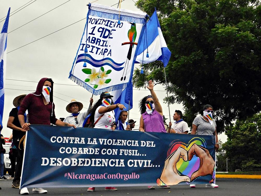 Desobediencia civil de la población LGBTIQ - Fotografía de Juan Daniel Treminio