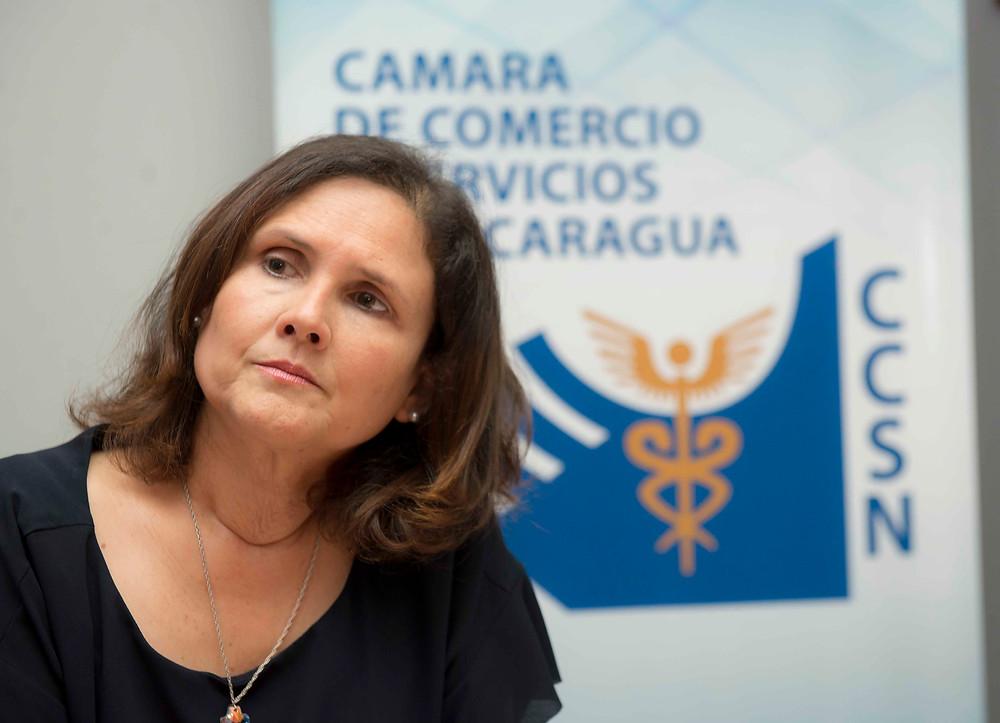 Carmen Hilleprandt, Presidenta de la Cámara de Comercio y Servicios de Nicaragua - Fotografía de La Prensa por Uriel Molina