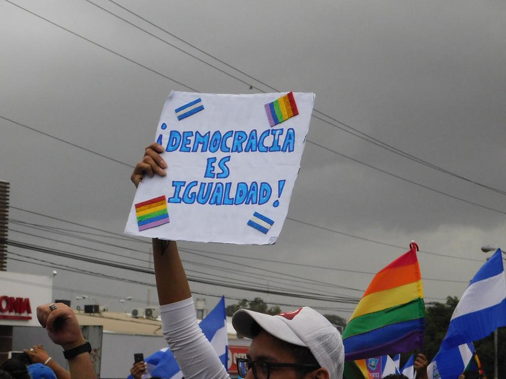 La población ha ganado sus méritos en el liderazgo ejercido dentro de la lucha cívica en Nicaragua | Fotografía de Coyuntura por Jairo Videa