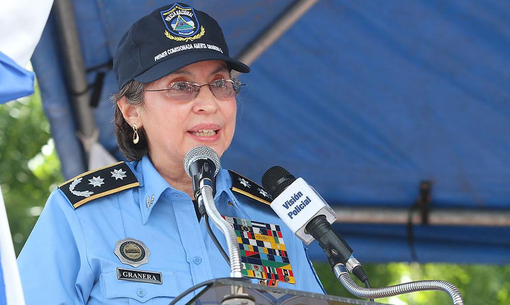 Aminta Granera Sacasa, directora general de la Policía Nacional de Nicaragua (Fotografía de Carlos Malespín / EL NUEVO DIARIO)