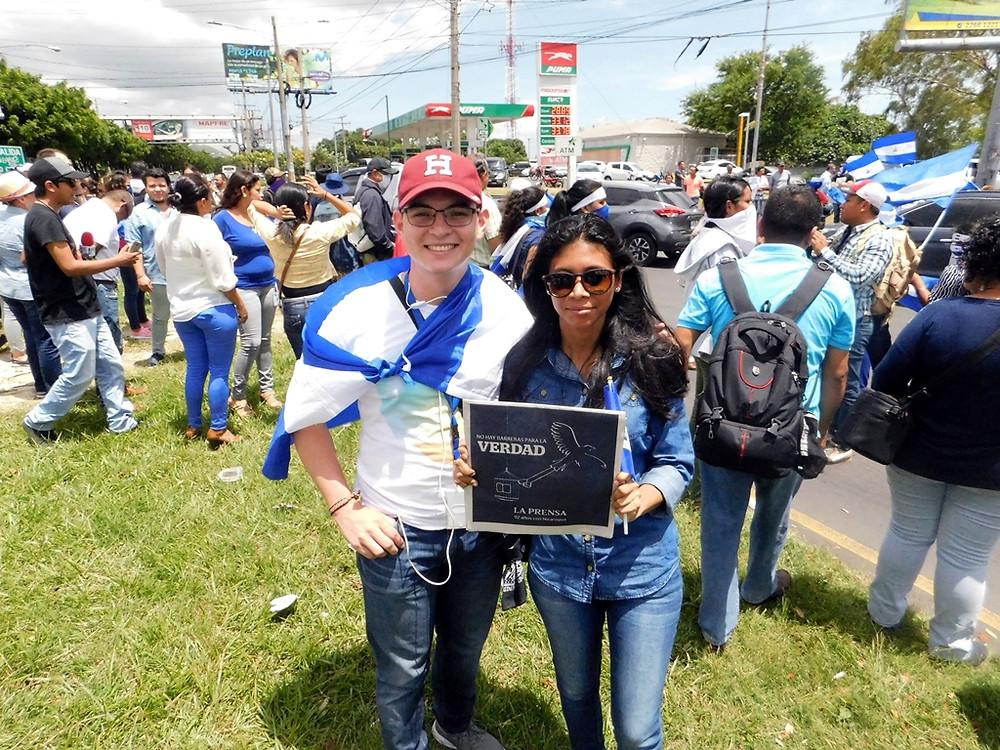 Periodistas exigen libertad de expresión y no más represión - Fotografía de Luis Blandón