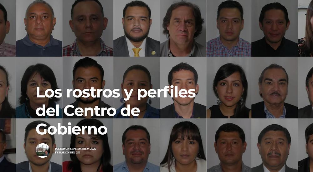Portada de la investigación sobre el Centro de Gobierno creada por Sonny Figueroa y Marvin del Cid - Captura del sitio web de Vox Populi