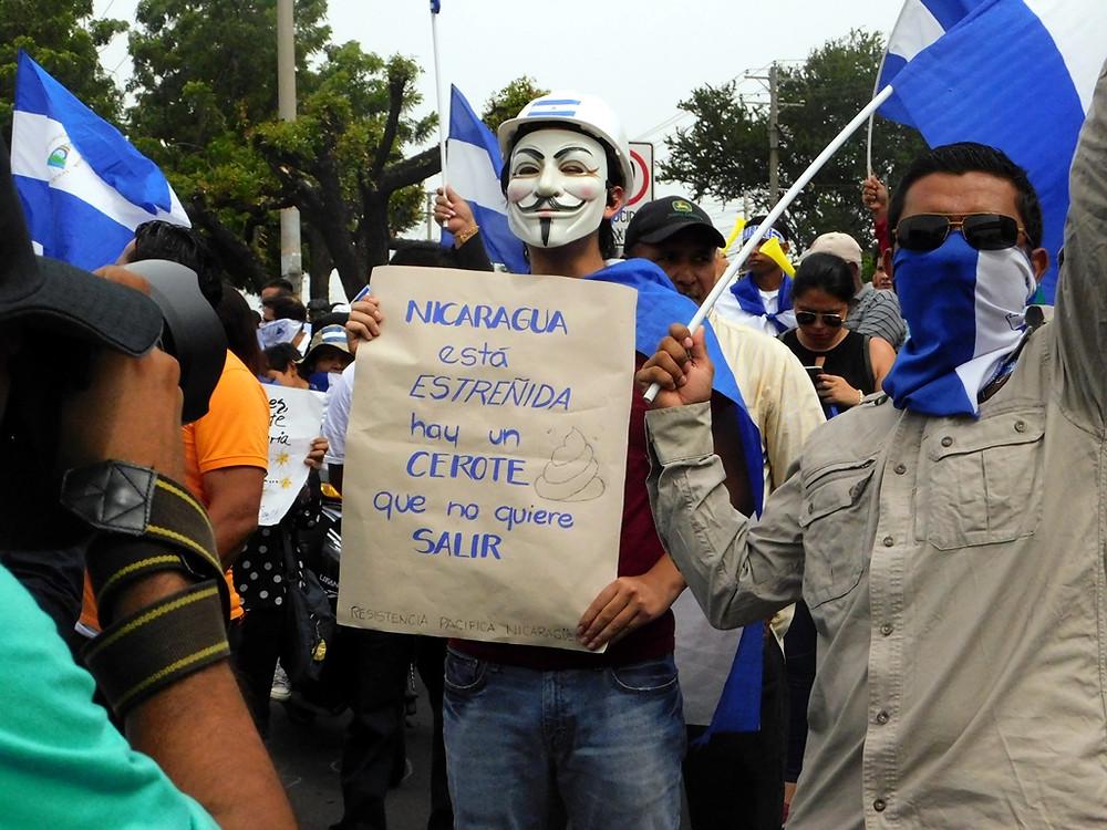 """Nicaragua está estreñida"" - Fotografía de Jairo Videa"