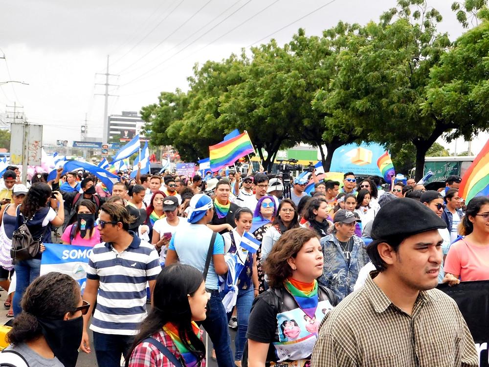 Marcha de la población LGBTIQ por Nicaragua - Fotografía de Juan Daniel Treminio