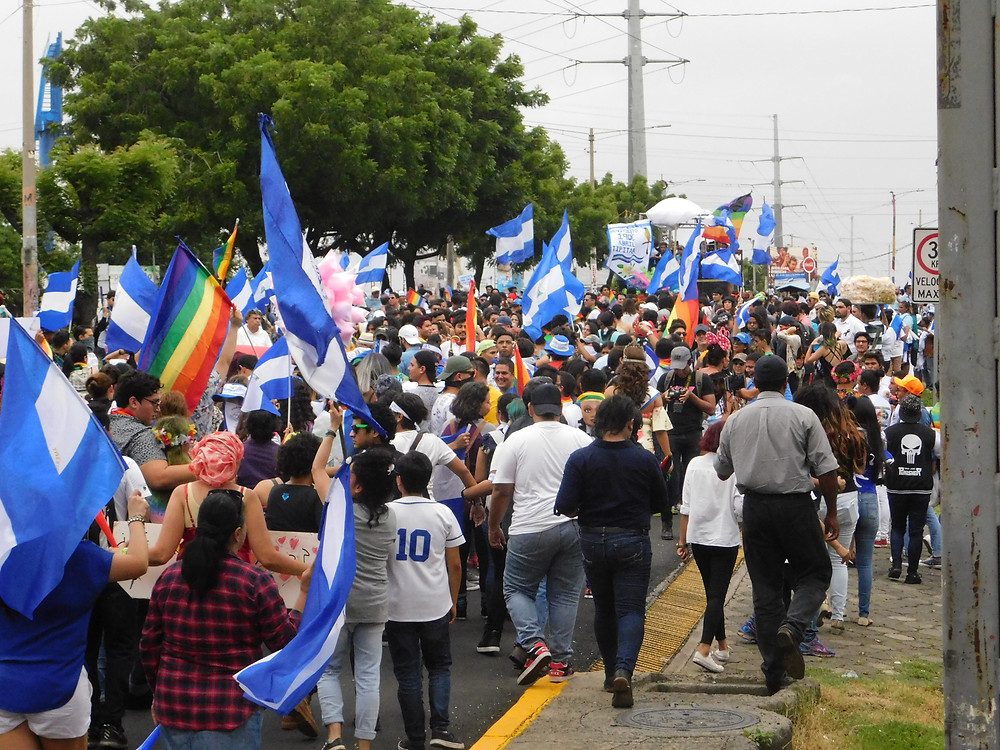 Miembrxs de la población LGBTIQ de Nicaragua continúan exigiendo justicia y democracia para el país | Fotografía de Coyuntura por Juan Daniel Treminio