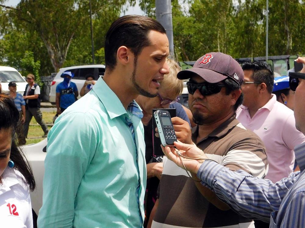 Periodistas exigen libertad de expresión y no más represión - Fotografía de Juan Daniel Treminio