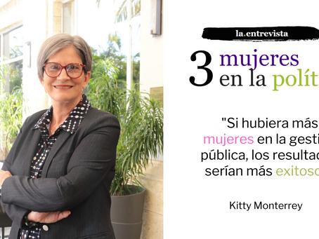 """Kitty Monterrey: """"Si hubiera más mujeres en la gestión pública, los resultados serían más exitosos"""""""