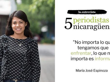 """María Espinoza: """"No importa lo que tengamos que enfrentar. Lo que nos importa es informar"""""""