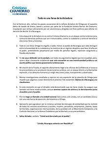 Comunicado emitido por Chamorro tras su salida del Ministerio Público el 21 de mayo