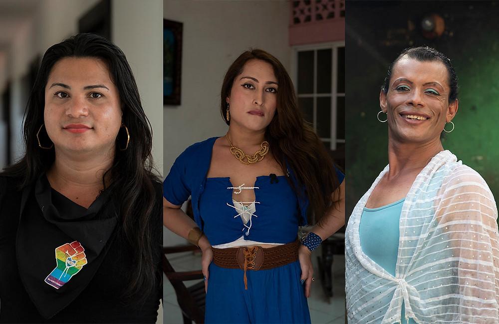 Victoria, Kisha y Carolina, ex reas políticas de la dictadura | Fotografía de Niú