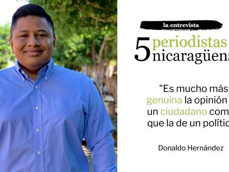 """Donaldo Hernández: """"Es mucho más genuina la opinión de un ciudadano común que la de un político"""""""